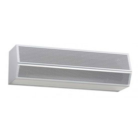 "Mars® High Velocity Series 2 Air Curtain 96"" Wide 2 Motor Unheated 460/3/60 Titanium Silver"