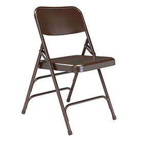 Steel Folding Chair - Premium with Triple Brace - Brown - Pkg Qty 4