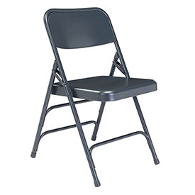 Steel Folding Chair - Premium with Triple Brace - Blue - Pkg Qty 4