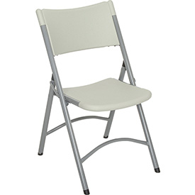 Folding Chair Blow Molded Resin Gray Package Count 4 by