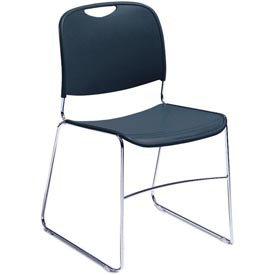 Stacking Chair - Plastic - Navy
