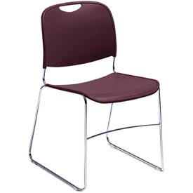 Stacking Chair - Plastic - Wine