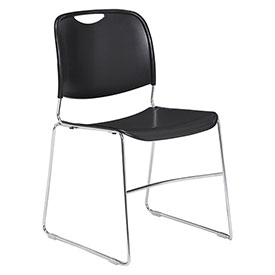 Stacking Chair - Plastic - Black