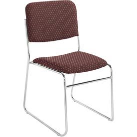 Stacking Chair - Fabric - Burgundy - Pkg Qty 2