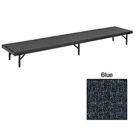 "Riser Straight with Carpet - 96""L x 18""W x 16""H - Blue"