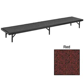 "Riser Straight with Carpet - 96""L x 18""W x 8""H - Red"