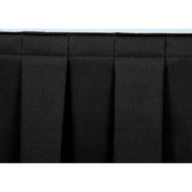 "8'L Box-Pleat Skirting for 16""H Stage - Black"