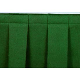 """4'L Box-Pleat Skirting for 24""""H Stage - Green"""