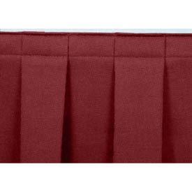 "4'L Box-Pleat Skirting for 8""H Stage - Red"