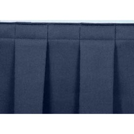 "8'L Box-Pleat Skirting for 8""H Stage - Blue"