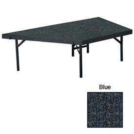 "Stage Pie Unit with Carpet for 36""W x 16""H Stage Units - Blue"
