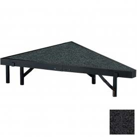 """Stage Pie Unit with Carpet for 36""""W x 8""""H Stage Units - Black"""