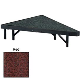 "Stage Pie Unit with Carpet for 36""W x 8""H Stage Units - Red"