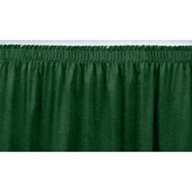 "4'L Shirred-Pleat Skirting for 16""H Stage - Green"