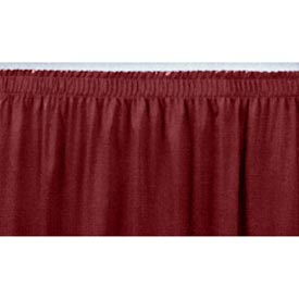 "8'L Shirred-Pleat Skirting for 16""H Stage - Red"