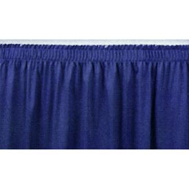 "8'L Shirred-Pleat Skirting for 8""H Stage - Blue"