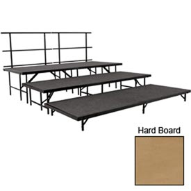 "Stage Set with Hardboard - 96""L x 36""W - 8""H, 16""H, 24""H & Two Guard Rails"