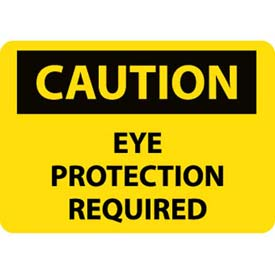 """NMC C485RB OSHA Sign, Caution Eye Protection Required, 10"""" X 14"""", Yellow/Black by"""