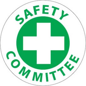 """NMC HH11 Hardhat Emblem, Safety Committee, 2"""" Dia., White/Green by"""