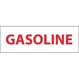 "NMC M51P Safety Sign, Gasoline, 4"" X 12"", White/Red by"