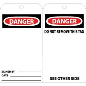 "NMC RPT30 Tags, Danger, 6"" X 3"", White/Red/Black, 25/Pk"
