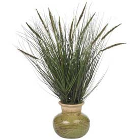 Nearly Natural 27'' Grass with Mini Cattails Silk Plant