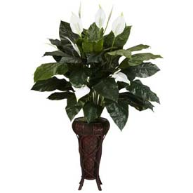 Nearly Natural Spathiphyllum with Stand Silk Plant