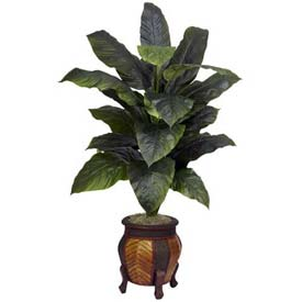 Nearly Natural Giant Spathiphyllum with Decorative Vase Silk Plant