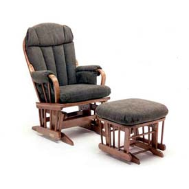 NK Medical Glider Rocker, Bow Back, Blue Ridge