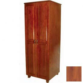 "NK Medical Wardrobe, Lexington, 2 Doors/2 Drawers, 24"" Interior, 27-1/2""WX25""DX72""H, Southern Cherry"