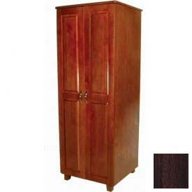 "NK Medical Wardrobe, Lexington, 2 Doors/2 Drawers, 30"" Interior, 33-1/2""W X 25""D X 72H, Asian Walnut"