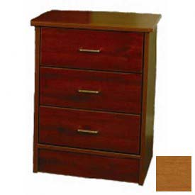 "NK Medical Bedside Cabinet, Monroe, 3 Drawers, 22""W X 17""D X 29""H, Milwork Cherry"