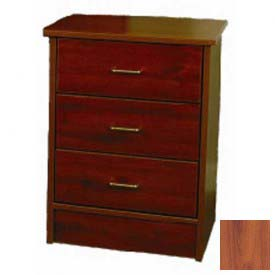 "NK Medical Bedside Cabinet, Monroe, 3 Drawers, 22""W X 17""D X 29""H, Wild Cherry"