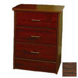 "NK Medical Bedside Cabinet, Monroe, 3 Drawers, 22""W X 17""D X 29""H, Winchester Walnut"