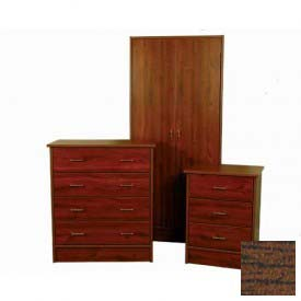 "NK Medical Wardrobe, Monroe, 2 Doors/2 Drawers, 24"" Interior, 25-1/2""WX24""DX72""H, Winchester Walnut"