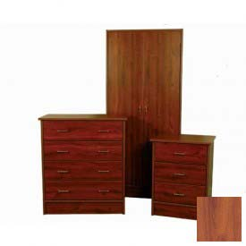 "NK Medical Wardrobe, Monroe, 2 Doors/2 Drawers, 30"" Interior, 31-1/2""W X 24""D X72""H, Southern Cherry"