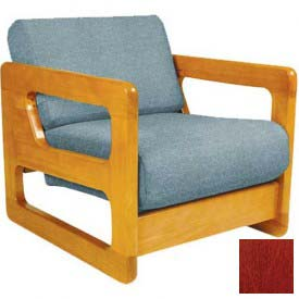 "NK Medical Open Arm Butcher Block Chair, 27-1/4""W X 30""D X 26""H, American Cherry"