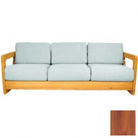 "NK Medical Open Arm Butcher Block Sofa, 72-1/4""W X 30""D X 26""H, Wild Cherry"