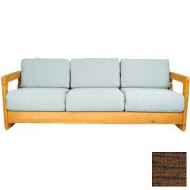 "NK Medical Open Arm Butcher Block Sofa, 72-1/4""W X 30""D X 26""H, Winchester Walnut"