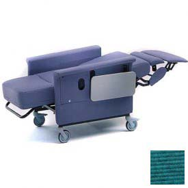 NK Medical Recliner Chair, Stationary, Infinite Recline, No Casters, 300 Lbs. Max, Aquamarine