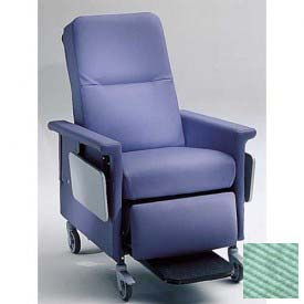 "NK Medical Recliner Chair, 3 Positions, 3"" Casters, 300 Lbs. Max, Iced Mint"