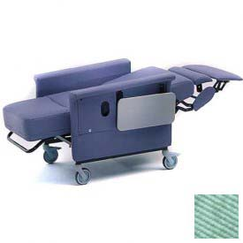 "Recliner Chair, 3 Positions, Infinite Recline, 3"" Casters, Swing Arms, 300 Lbs. Max, Iced Mint"