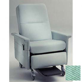 NK Medical Bariatric Medical Recliner, Side Table, Push Bar & Swing Arms, 500 Lbs. Max, Iced Mint