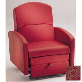 NK Medical Sleeper Chair, With Padded Arms, Cranberry