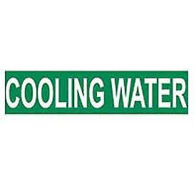 Pressure-Sensitive Pipe Marker - Cooling Water, Pack Of 25