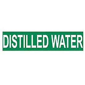 Pressure-Sensitive Pipe Marker - Distilled Water, Pack Of 25