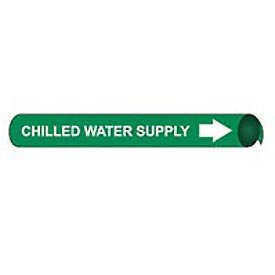 Precoiled and Strap-on Pipe Marker - Chilled Water Supply