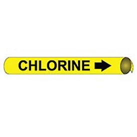 Precoiled and Strap-on Pipe Marker - Chlorine