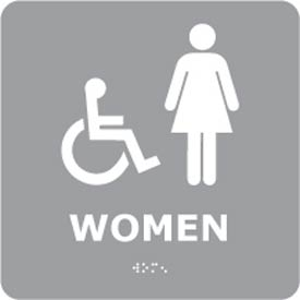 Graphic Braille Sign - Women - Gray