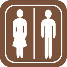 Architectural Sign - Rest Room Symbol